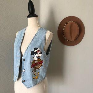 Vintage Disney Mickey Mouse Sailor Denim Vest